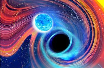 Neutroncsillag és fekete lyuk ütközéséből származó gravitációs hullámok